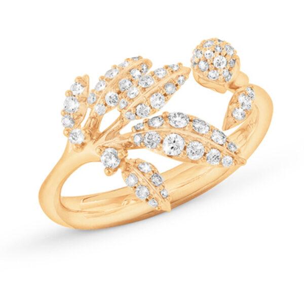 Mestergull Winter Frost liten ring i 18 kt. gult gull med diamanter totalt 0,31 ct. TwVs LYNGGAARD Winter Frost Ring