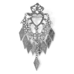 Mestergull Stor sølje i oksidert sølv til Romeriksbunaden. Sølja er en kopi funnet i Nes på Romerike ROMERIKSSLV Sølje