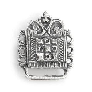 Mestergull Veskestøl i oksidert sølv til Romeriksbunaden ROMERIKSSLV Belte