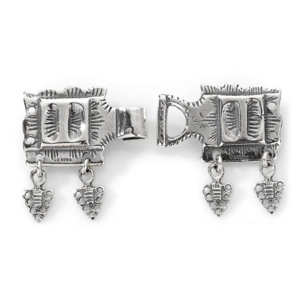 Mestergull Beltelås i oksidert sølv til Romeriksbunaden ROMERIKSSLV Belte