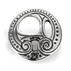 Mestergull Knapp for romerikskniv i oksidert sølv til Romeriksbunaden ROMERIKSSLV Knapp