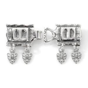 Mestergull Beltelås til barn i oksidert sølv til Romeriksbunaden ROMERIKSSLV Belte