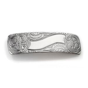 Mestergull Hårspenne i oksidert sølv til Romeriksbunaden ROMERIKSSLV Diverse