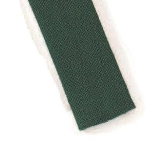 Mestergull Stoffbelte i mørk grønn til Romeriksbunaden, beltet er stivet opp med viselin slik at stølene skal henge pent ROMERIKSSLV Belte