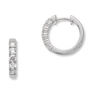 Mestergull Klassiske allianse øreringer i hvitt gull med diamanter ALLIANSE Dia. 0,10 ct. Ørepynt