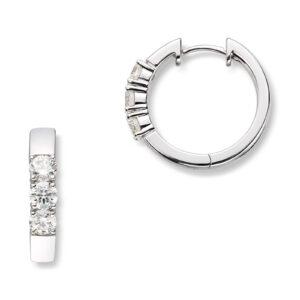 Mestergull Klassiske allianse øreringer i hvitt gull med diamanter ALLIANSE Dia. 0,20 ct. Ørepynt