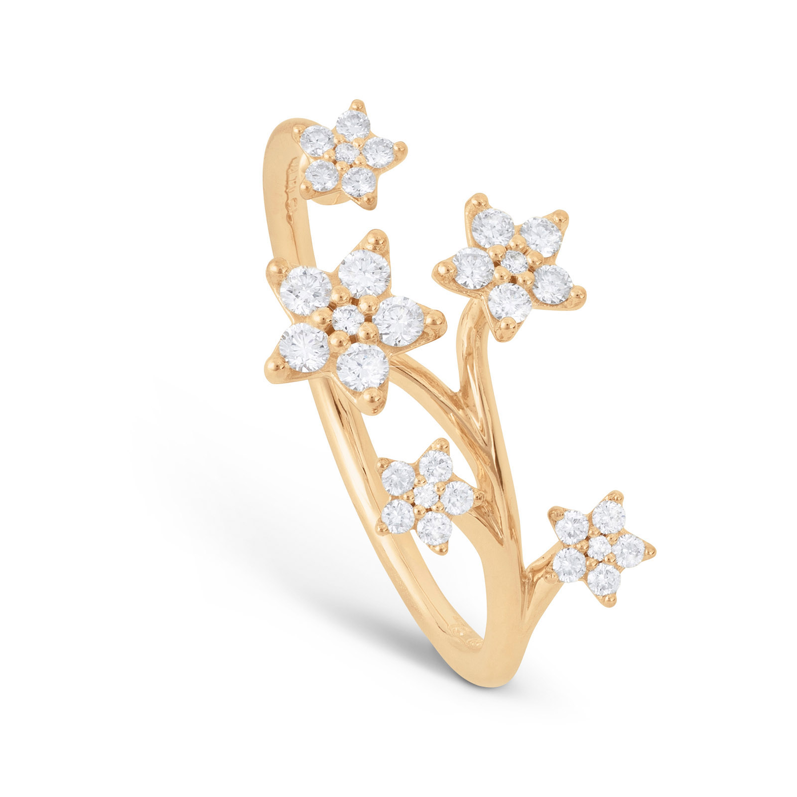 Mestergull Shooting stars ring med 30 diamanter totalt 0,27 ct. TwVs LYNGGAARD Shooting Stars Ring
