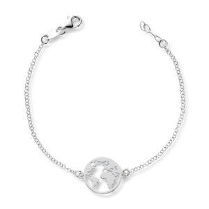 Mestergull Trendy armbånd i rhodinert sølv - verdenskart GID Armbånd