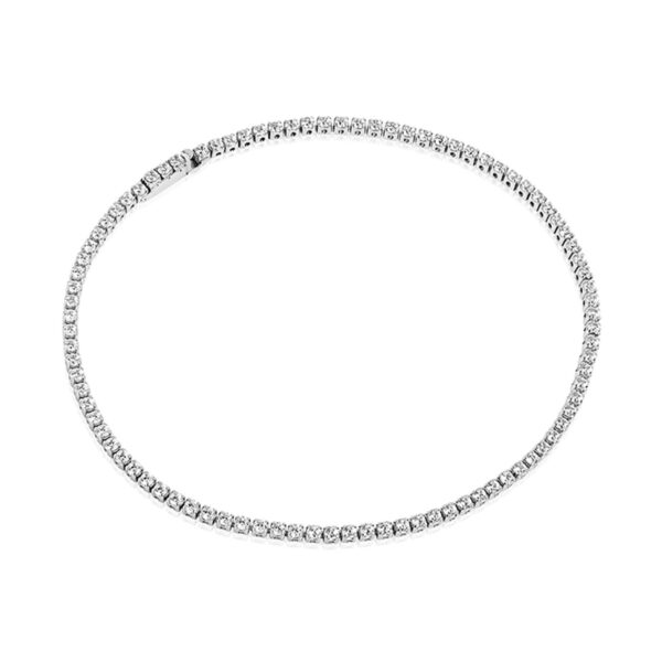 Mestergull Armbånd i sølv 925S rhodinert, med blankpolert overflate og fasettslepne klare Zirkonia. SIF JACOBS JEWELLERY Ellera Armbånd