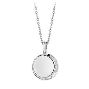 Mestergull Anheng i sølv 925S rhodinert, med blankpolert overflate og fasettslepne klare Zirkonia. SIF JACOBS JEWELLERY Portofino Anheng