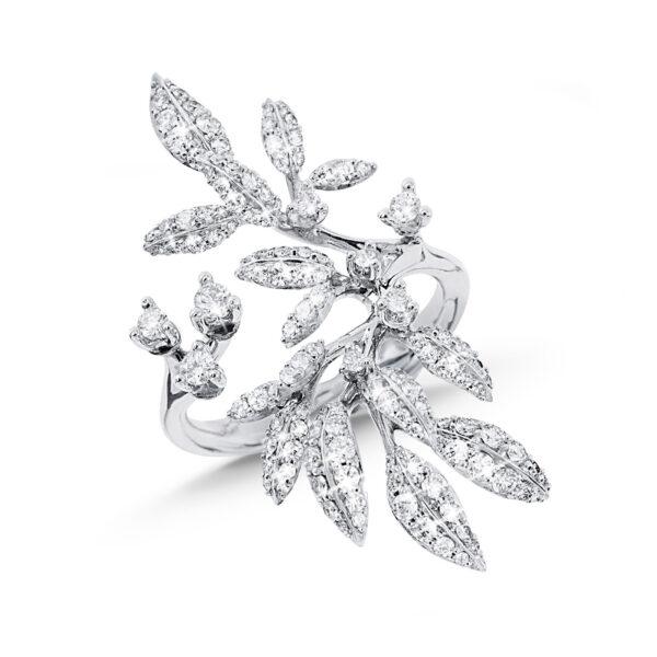 Mestergull Winter Frost ring i 18kt. hvitt gull med diamanter LYNGGAARD Winter Frost Ring