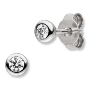 Mestergull Enkel ørepynt i rhodinert sølv med cubic zirkonia VIVENTY Ørepynt