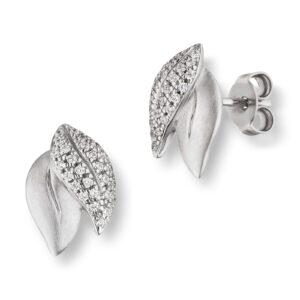 Mestergull Flott ørepynt i rhodinert sølv med cubic zirkonia VIVENTY Ørepynt