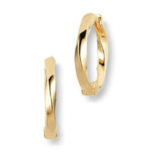 Mestergull Øreringer i sølv 925S forgylt med 18K gull, med blankpolert overflate SIF JACOBS JEWELLERY Ferrara Ørepynt