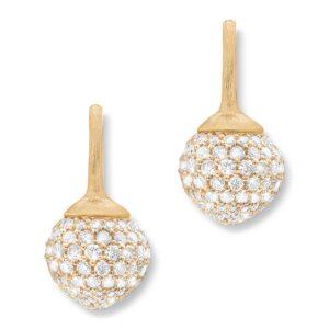 Mestergull Dew Drops stor ørepynt 18kt. gult gull pavé med 230 diamanter totalt 2,74 ct. TwVs LYNGGAARD Dew Drops Ørepynt